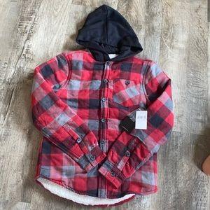 Super Warm & Stylish Plaid Boys Jacket w/ Hood